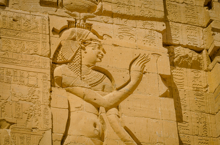 Egypt. Temple of Philae, temple of Isis. Nile