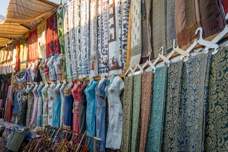 Souvenir shops in the city of Edfu. Egypt. Africa Stock Photo