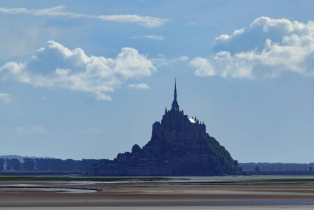 The Mont Saint Michel from the water. Stock Photo
