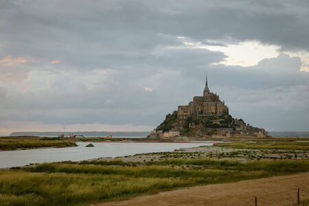 Views of Mont Saint Michel. Stock Photo