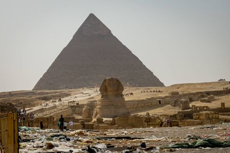 Garbage, Sphinx and Pyramids of Egypt