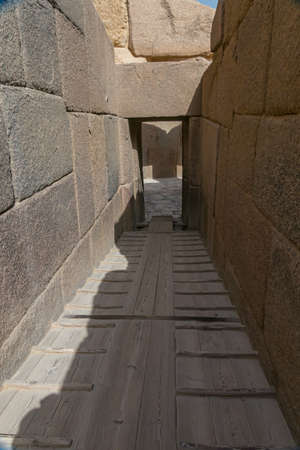 Stone hall in the pyramids of Giza. Egypt Stockfoto