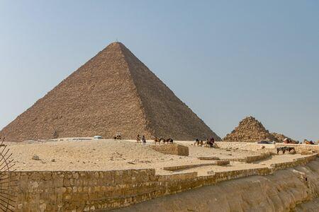 Cheops, Kefren, Micerino pyramids of Giza. Egypt