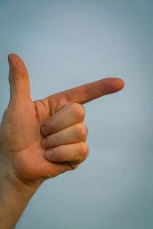 Symbol made with fingers. Sign language Foto de archivo