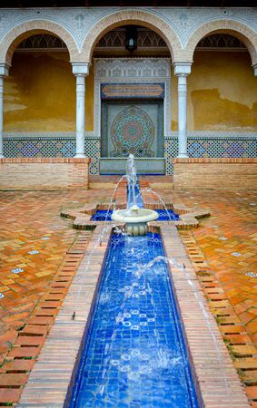 Fountain of the Palace of the Counts of Cervellon, Anna. Valencia. Spain