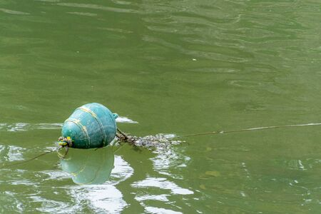 Buoy floating in the calm sea. Reklamní fotografie