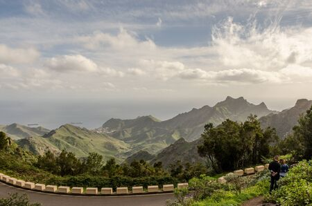 Views of the landscape of the Anaga Rural Park, in Santa Cruz de Tenerife. Canary Islands. Spain.
