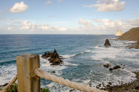 Islet in Benijo, in the Anaga Rural Park, in Santa Cruz de Tenerife. Canary Islands. Spain.