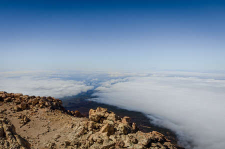 Sea of clouds in El Teide National Park, Tenerife. Canary Islands. Spain.