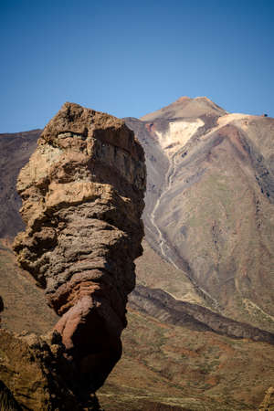 Roque Cinchado in Teide National Park, Tenerife. Canary Islands. Spain.
