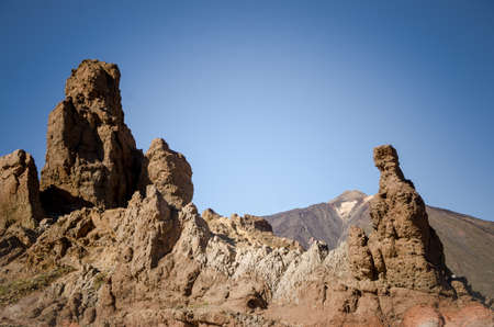 Rocky landscape in El Teide National Park, Tenerife. Canary Islands. Spain.