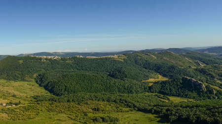 Panoramic view from the Peña Tremaya. Palencia. Spain.