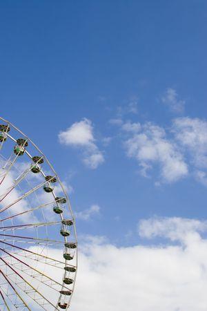 Ferris wheel at fair Фото со стока