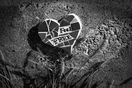 Heart shaped mosaic reads  photo