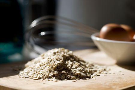 oatmeal: Whisk, oatmeal, eggs