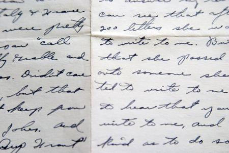 Love letter, handwriting Фото со стока