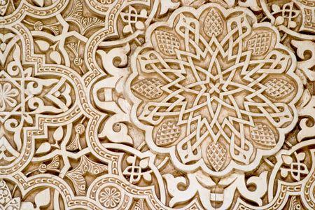 グラナダ: イスラム (ムーア) 美術、アルハンブラ、グラナダ 報道画像