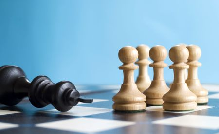 defeat: Competition: chess defeat Stock Photo