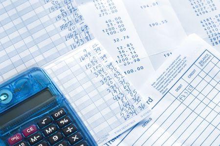 Balancing checkbook and bank statement.