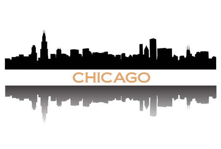 chicago skyline Stock Vector - 8484734