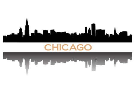 windy city: horizonte de Chicago Vectores