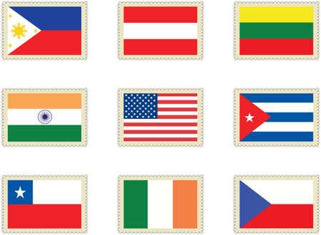 bandera cuba: banderas de sellos 4