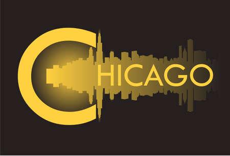 シカゴ v  イラスト・ベクター素材