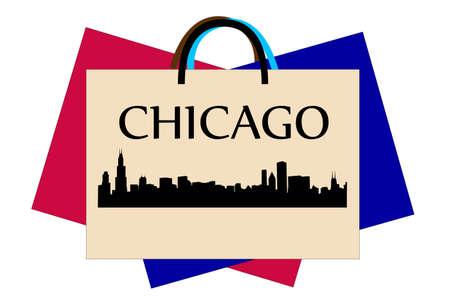 シカゴのショッピング  イラスト・ベクター素材