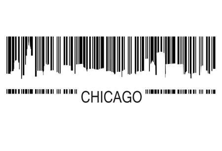シカゴのバーコード  イラスト・ベクター素材