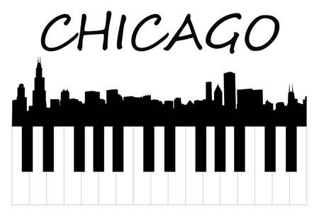 windy city: m�sica de Chicago Vectores