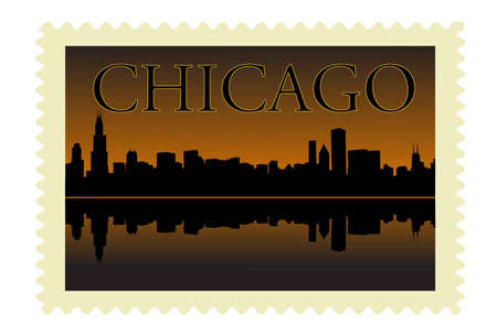 chicago stamp Stock Vector - 8977069