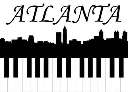 atlanta music Stock Illustratie