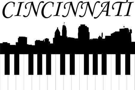 cincinnati music Illustration