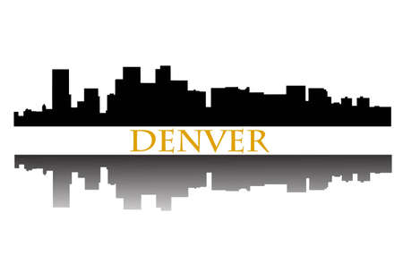 denver skyline: Denver Skyline Illustration