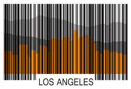 Los Angeles barcode a Illustration