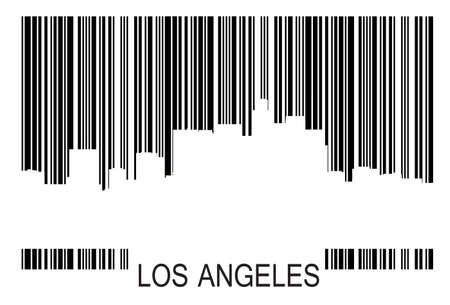 los angeles: Los Angeles Barcode b