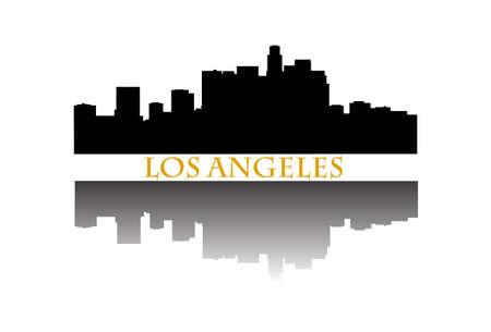 ロサンゼルスのスカイラインを  イラスト・ベクター素材