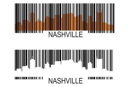 nashville: Nashville barcode  Illustration