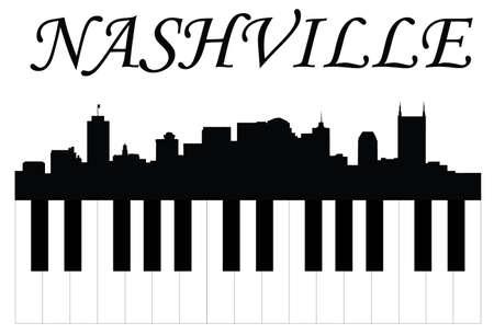 Nashville music Stock Illustratie