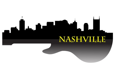 Nashville skyline g Stock Vector - 9719027