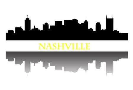 Nashville Skyline Stock Illustratie