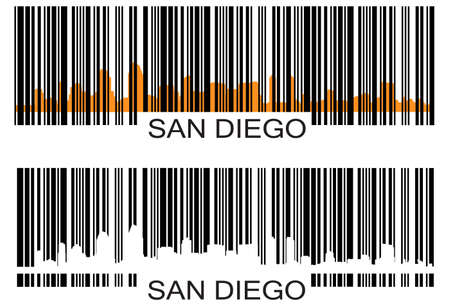 San Diego barcode Vector