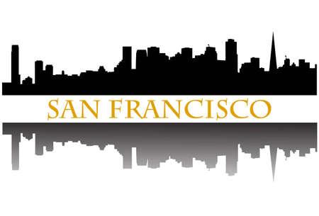 San Francisco skyline Stock Vector - 9934583
