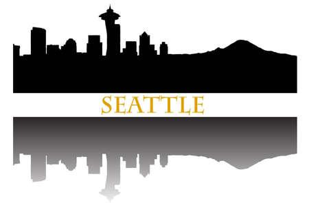 seattle skyline: Seattle skyline Illustration