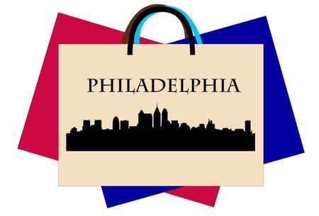 philadelphia: Philadelphia shopping Illustration