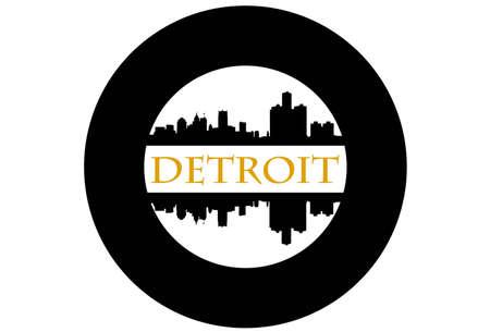 Detroit wiel Stock Illustratie