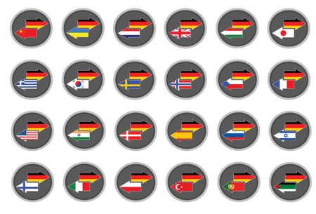 danish flag: German translation Illustration