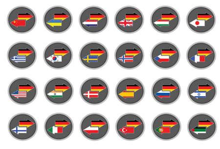 uk flag: German translation Illustration
