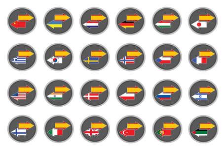 -スペイン語翻訳  イラスト・ベクター素材