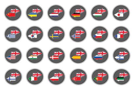 UK English translation 向量圖像